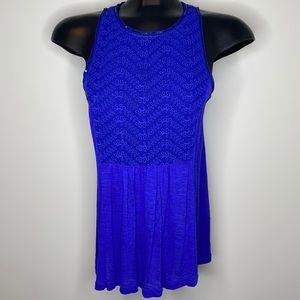 American Eagle royal blue lace sequins tank top M